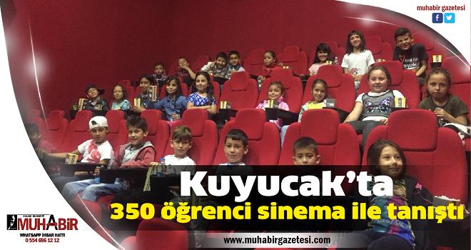 Kuyucak'ta 350 öğrenci sinema ile tanıştı