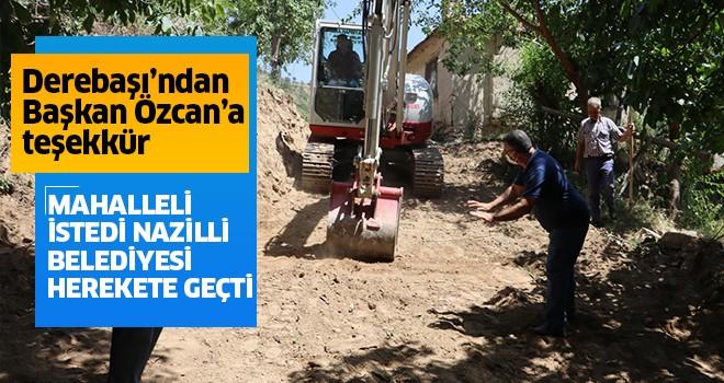 Derebaşı'ndan Başkan Özcan'a teşekkür