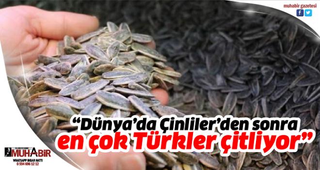 """""""Dünya'da Çinliler'den sonra en çok Türkler çitliyor"""""""