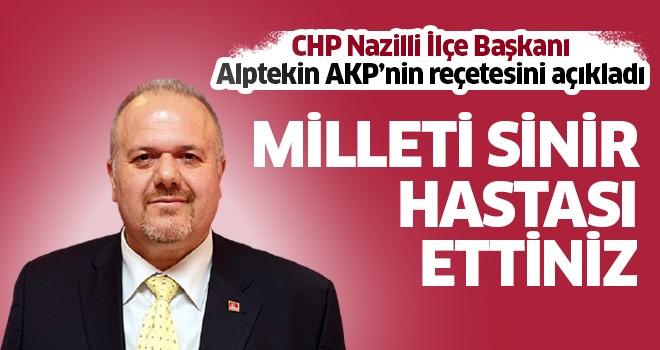 Alptekin, AKP'nin reçetesini açıkladı