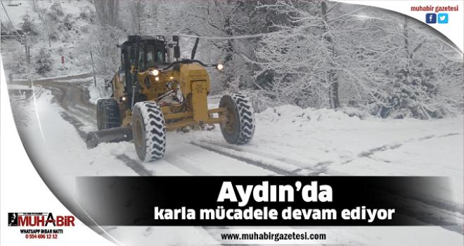 Aydın'da karla mücadele devam ediyor