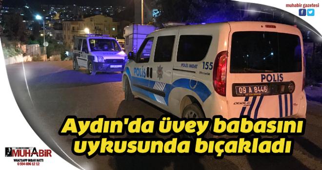 Aydın'da üvey babasını uykusunda bıçakladı