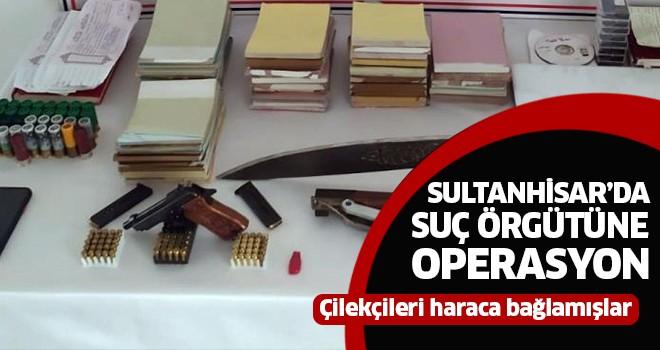 Sultanhisar'da suç örgütüne operasyon
