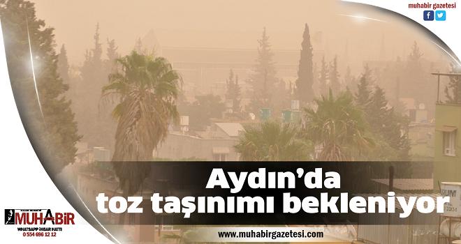 Aydın'da toz taşınımı bekleniyor