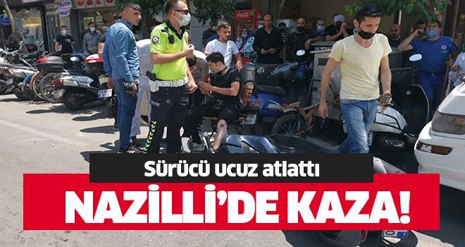 Nazilli'de motosiklet kazası!