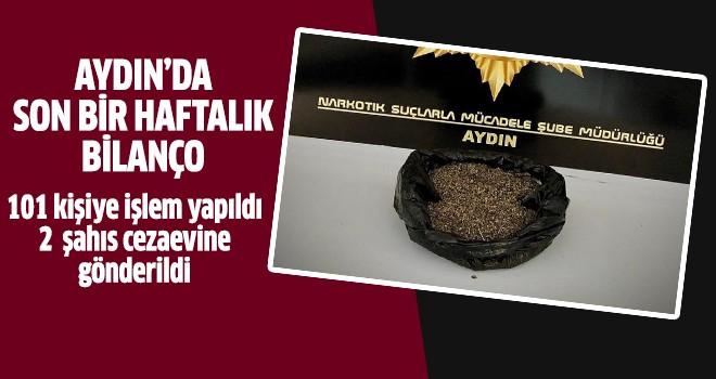 Aydın'da uyuşturucudan 101 kişiye işlem yapıldı