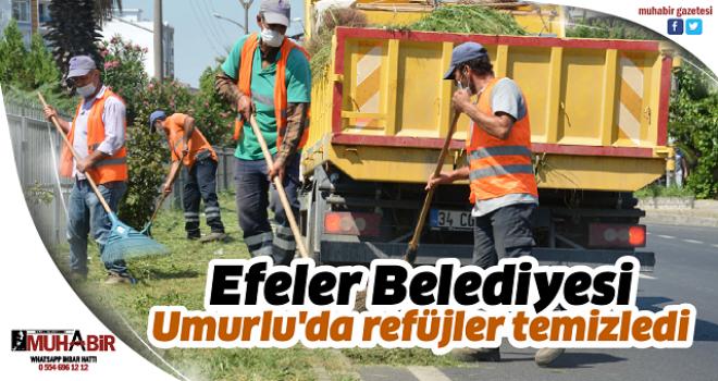 Efeler Belediyesi Umurlu'da refüjler temizledi