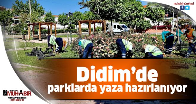 Didim'de parklarda yaza hazırlanıyor