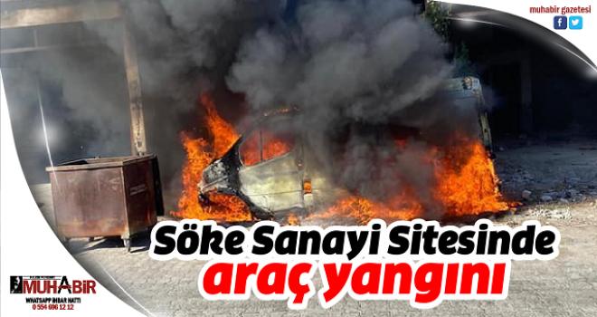Söke Sanayi Sitesinde araç yangını