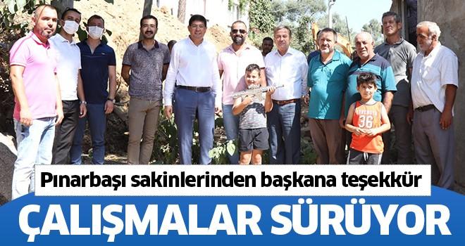 Pınarbaşı Mahallesi sakinlerinden Başkan Özcan'a teşekkür