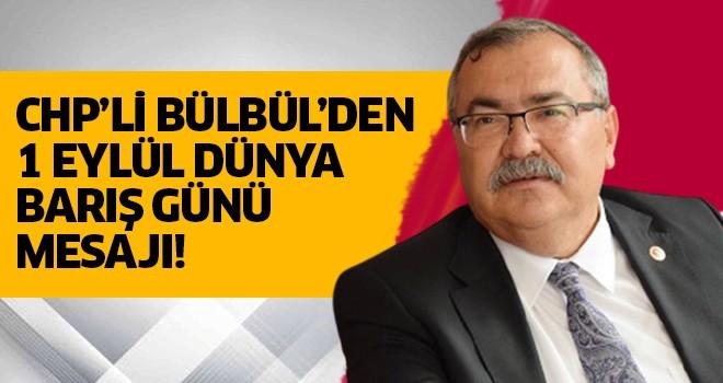 CHP'li Bübül'den 'Dünya Barış Günü' mesajı!