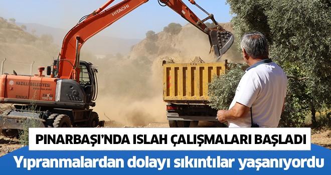 Pınarbaşı'nda ıslah çalışmaları başladı