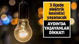 3 ilçede elektrik kesintisi!