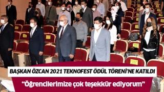 Başkan Özcan 2021 TEKNOFEST Ödül Töreni'ne katıldı