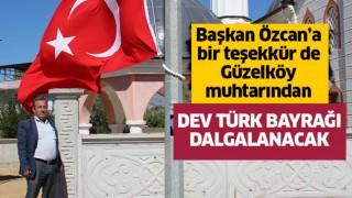 Başkan Özcan'a, Güzelköy muhtarındanteşekkür