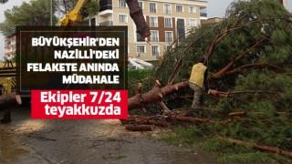 Büyükşehir'den Nazilli'deki felakete anında müdahale