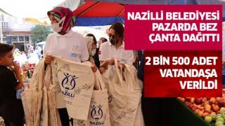 Nazilli Belediyesi bez çanta dağıttı