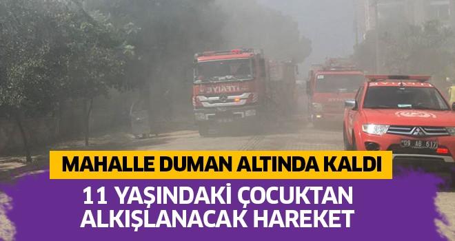 Yangın mahalleyi dumana boğdu