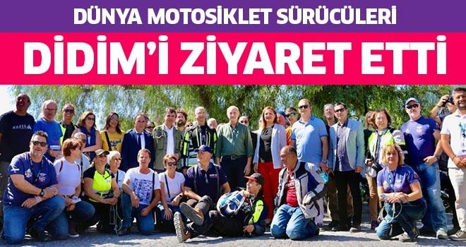 Dünya motosiklet sürücüleri Didim'i ziyaret etti