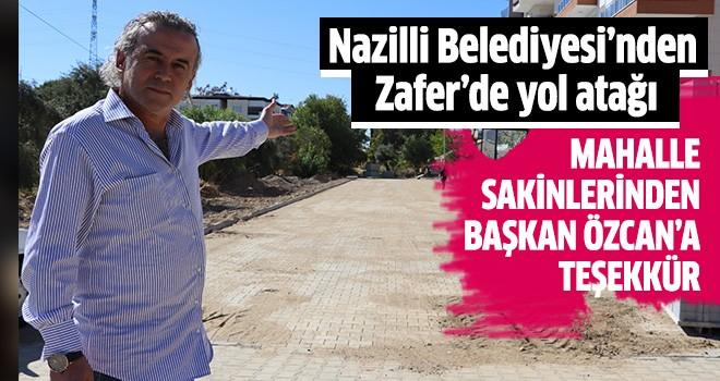 Nazilli Belediyesi'nden Zafer'de yol atağı