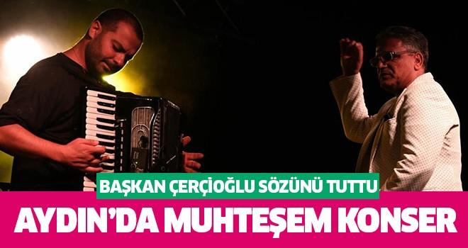 Başkan Çerçioğlu konser sözünü yerine getirdi