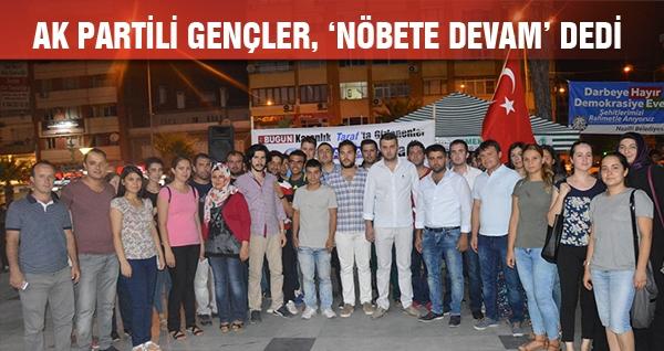AK Partili Gençler, 'Nöbete Devam' Dedi