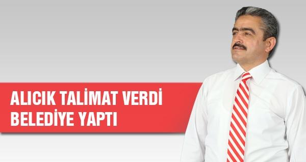 Alıcık Talimat Verdi Belediye Yaptı