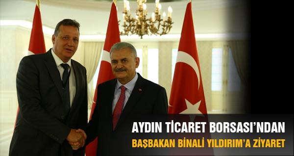 Aydın Ticaret Borsası'ndan Başbakan Binali Yıldırım'a Ziyaret