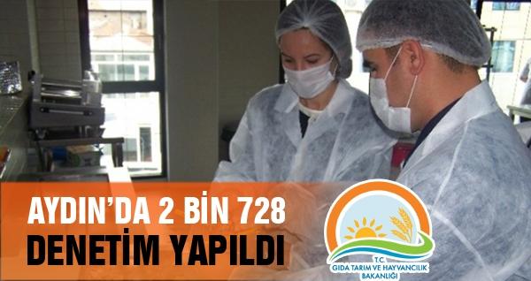 Aydın'da 2 Bin 728 Denetim Gerçekleştirildi