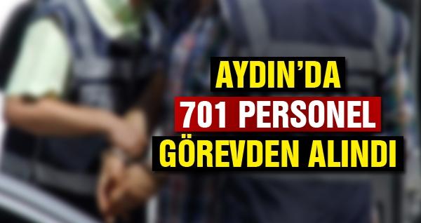 Aydın'da 701 Personel Görevden Alındı