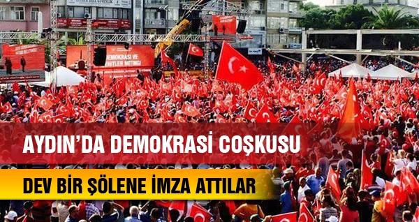 Aydın'da Demokrasi Coşkusu
