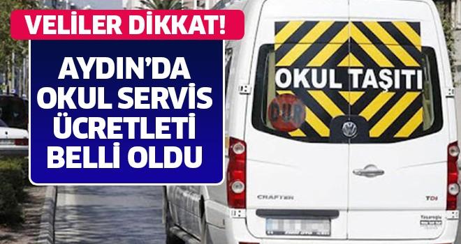 Aydın'da okul servis ücretleri beli oldu