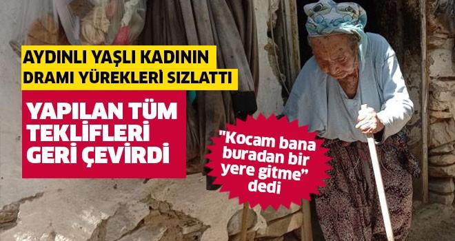 Yaşlı kadının dramı yüreklerini sızlatıyor