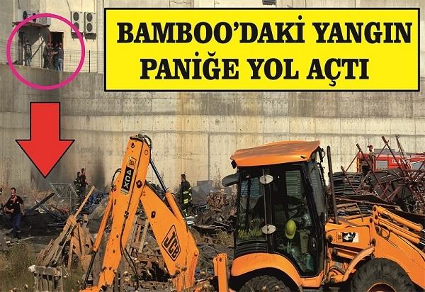 Bamboo AVM'de yangın paniği