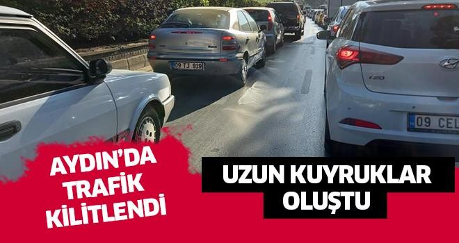 Aydın'da trafik kilitlendi