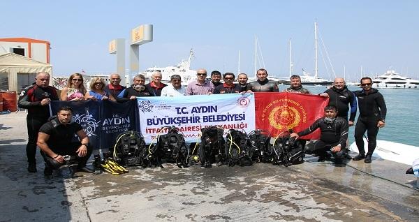 Büyükşehir itfaiyecileri su altı kurtarma ekibi kurdu