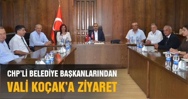 CHP Belediye Başkanlarından Vali Koçak'a Ziyaret