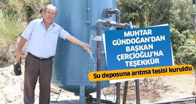 Muhtar Gündoğan'dan Başkan Çerçioğlu'na teşekkür