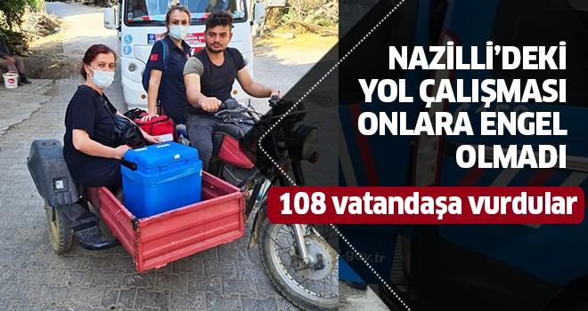 Motosikletle gidip, 108 kişiyi aşıladılar