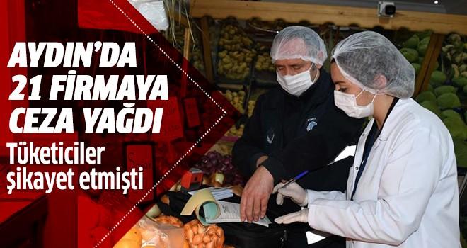Aydın'da 21 firmaya ceza yağdı