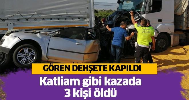 3 kişi kaza yerinde can verdi