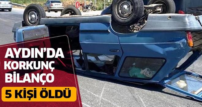 Aydın'da 5 kişi trafik kazasında öldü