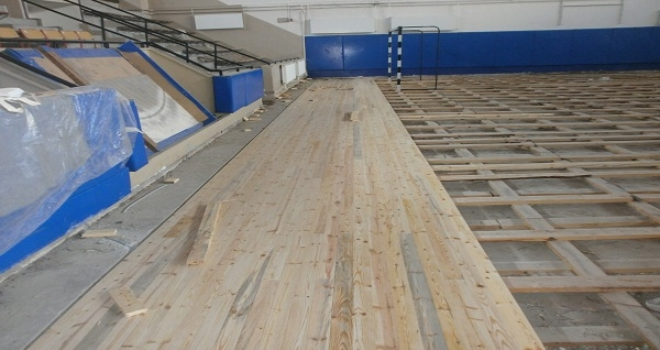 Nazilli Spor Salonu restore çalışmaları devam ediyor