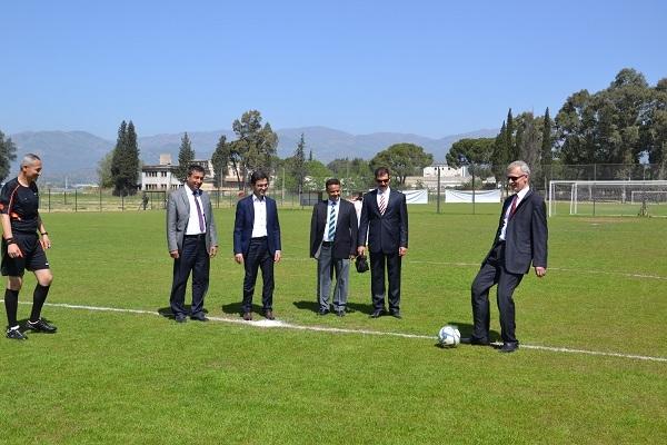 Yurtlar arası futbol turnuvası start aldı