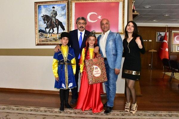 Yabancı öğrenciler Başkan Alıcık'ı ziyaret etti