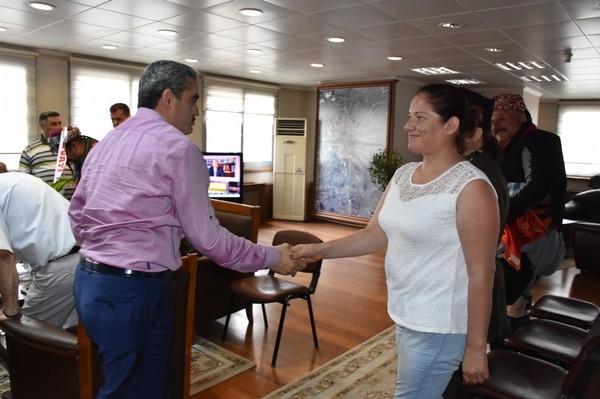 Yeni Yönetim, Başkan Alıcık'ı Ziyaret Etti